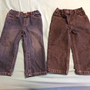 Size 18-24 and 24 month Boy Toddler Jeans